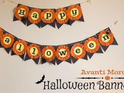 DIY Halloween Banners. decorations. decoraciones