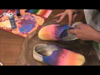 DIY Painted Shoes for Summer