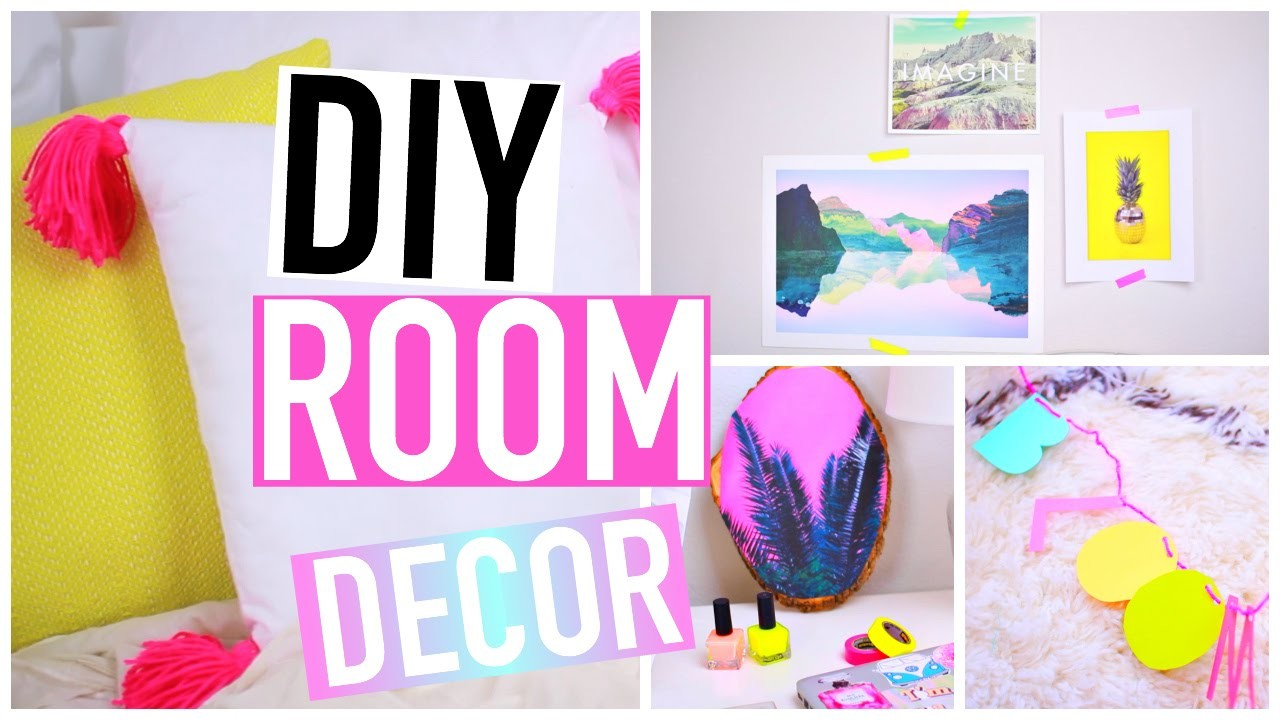 DIY Room Decorations for Spring! Tumblr Inspired!