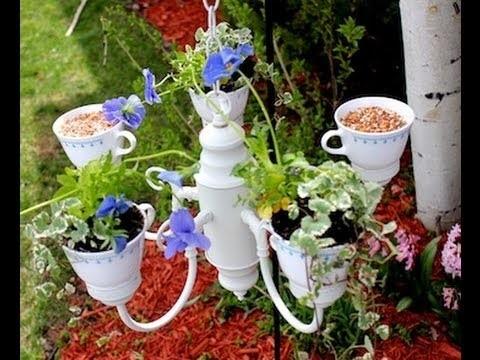 DIY Tea Party Planter