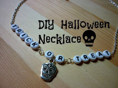 DIY Trick or Treat Necklace ¦ The Corner of Craft