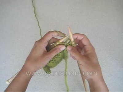DROPS Knitting Tutorial: How to purl