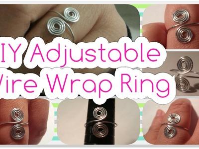 Easy DIY Adjustable Spiral Wire Wrap Ring Tutorial