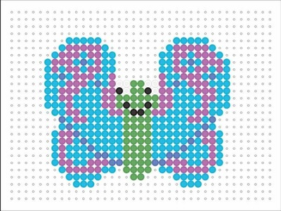 Hama Bead Butterfly (Animal Series #1)