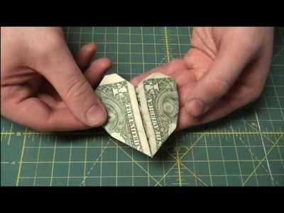Heart Dollar Bill Origami - Easy Origami Tutorial - Paper Folding Valentine Hearts