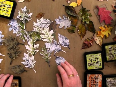 How I use Tim Holtz Tattered Leaves Die