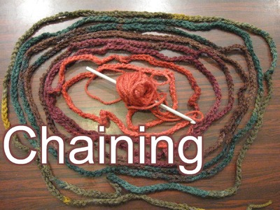How to Chain & Hold Your Yarn - Slow Motion - Beginner Crochet