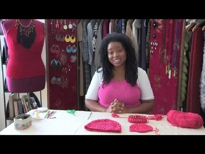 How to Crochet a Lattice Hat : How to Crochet Headwear
