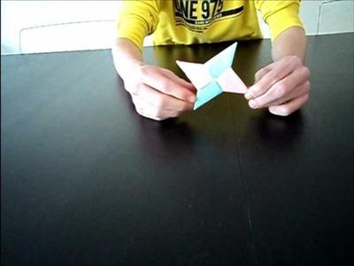 How To Fold A Origami Ninja Star. Shuriken \ Hoe Vouw Je Een Origami Werpster