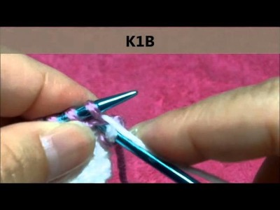 How to knit K1B