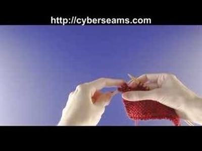 How to Knit Left Handed - Increase Stitches
