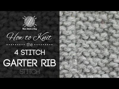 How to Knit the 4 Stitch Garter Rib Stitch
