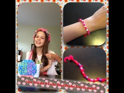 How To Make A Perler Bead Beaded Knot Bracelet!!