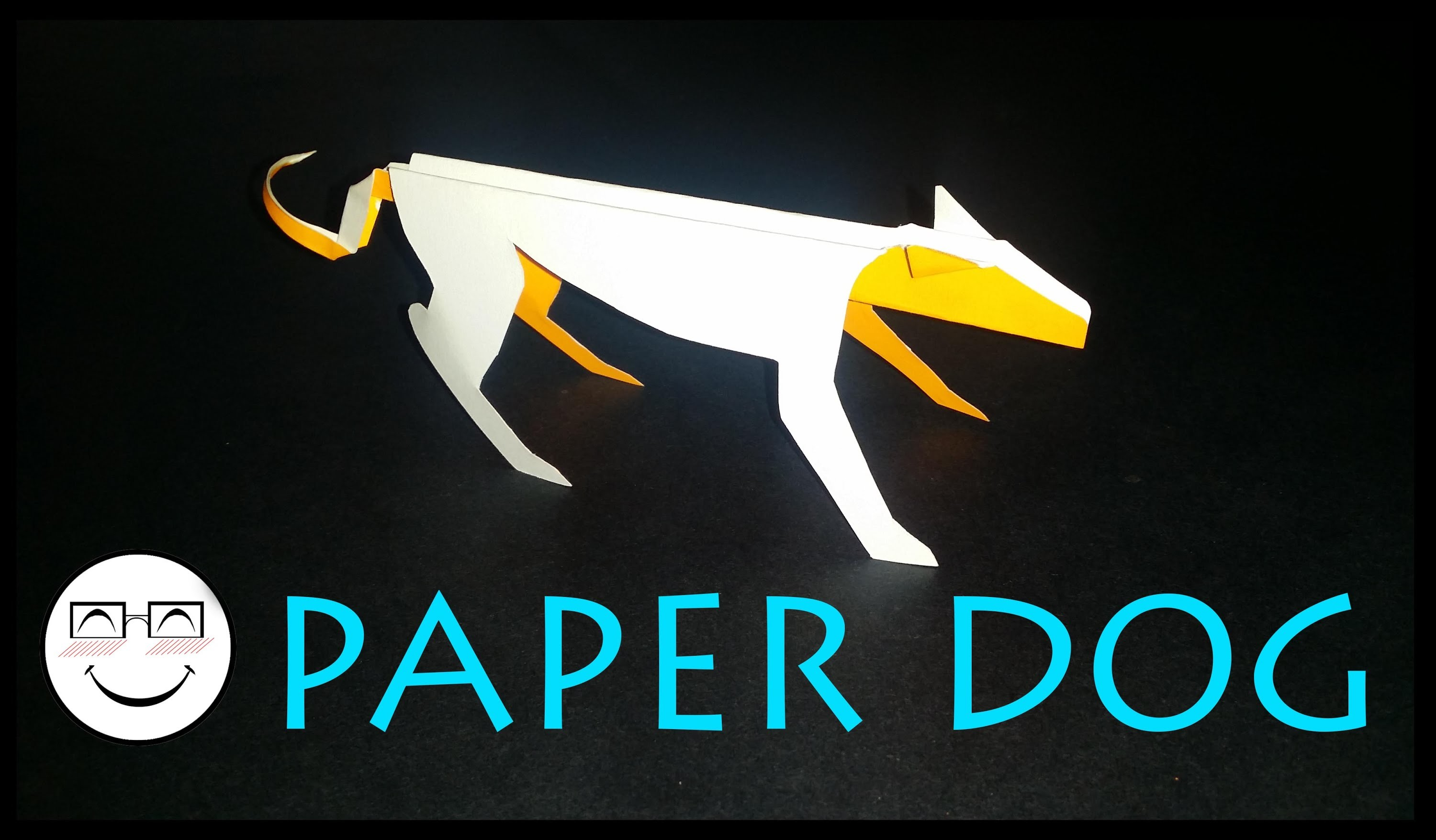 How to make a quick and easy origami.Kirigami dog  by -vyouttar origami-