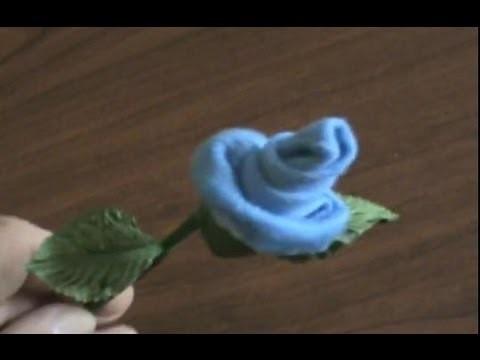 How to Make Baby Socks.Washcloth Roses & Silk Flower Pens (Instructions Tutorial)