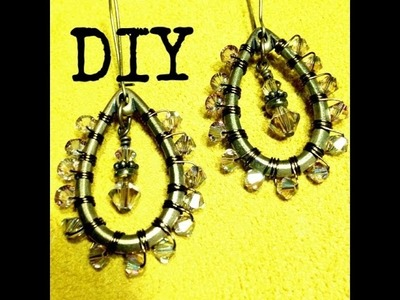 How to Make Beaded Wire Coil Teardrop Earrings with The Bead Place