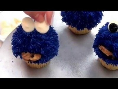 How To Make Cookie Monster Cupcakes Complete Deelite DIY #2