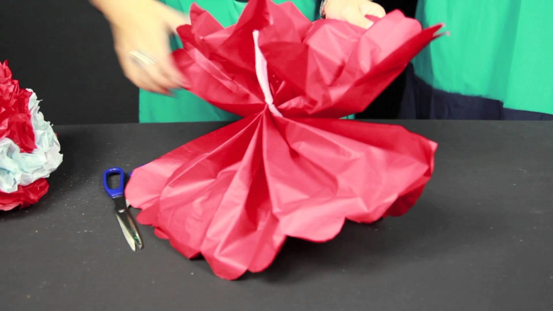 How to Make Paper Pom Poms