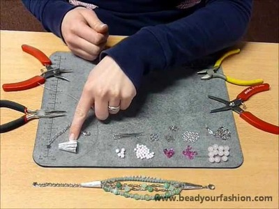 Jewelry making - DIY Project 4: Making a bracelet with multiple strands and caps
