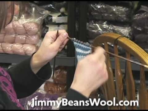 Knitting Instructional Video - How to Carry a Contrasting Color Up the Edge
