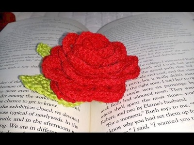 **Left Hand** Glama's Sweet Rose Book Mark Tutorial