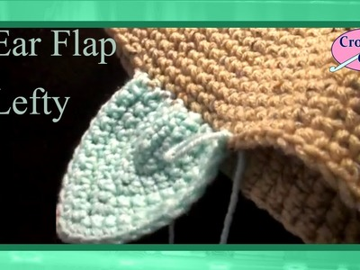 Left Hand Oblong Crochet Ear Flap for Hat or Cap Crochet Geek