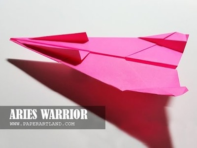 Let's Make a Paper Airplane that Flies FAR - Very Easy | Aries Warrior ( Tri Dang )