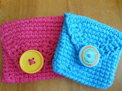 Lovely Crochet Pouch.Bag tutorial