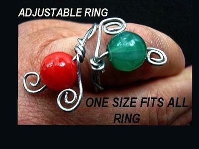 MAKE AN ADJUSTABLE WIRE RING, one size fits all