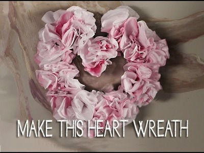 Make this Flower Heart Wreath