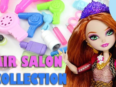 My Doll Hair Salon  Collection- Doll Crafts - shampoo,conditioner,spray,scissors,blower,etc