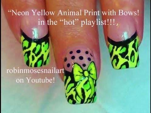 Nail Art Design - DIY Neon Leopard Nails Tutorial