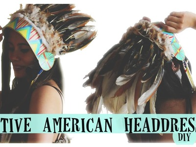 NATIVE HEADDRESS DIY!!
