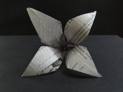 Origami Flower Tutorial - How to make a Lily Flower