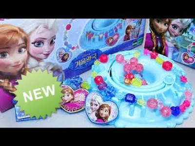 Play Doh - Frozen Princess Beads Jewelry Design Making Toys - playdough videos for children