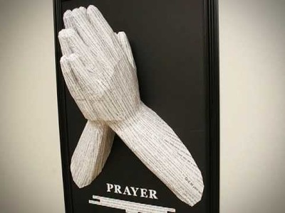 """Prayer"" - Wall Mounted Papercraft"