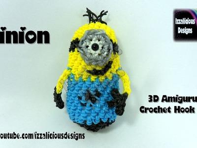 Rainbow Loom 3D Amigurumi Minion Action Figure.Doll.Charm - Loom-less.Hook Only.Crochet