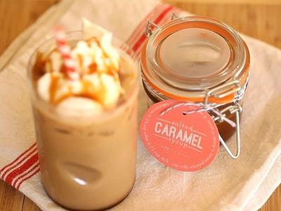 Salted Caramel Syrup for Coffee Recipe    KIN DIY
