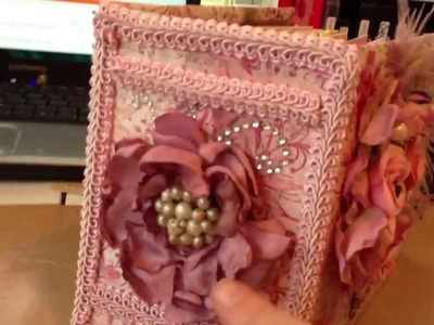 Scrapbookgiggles pink fairy premade scrapbook album mini album using bulky bliss binding