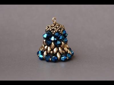 Sidonia's handmade jewelry - Christmas decorations - Beaded bell