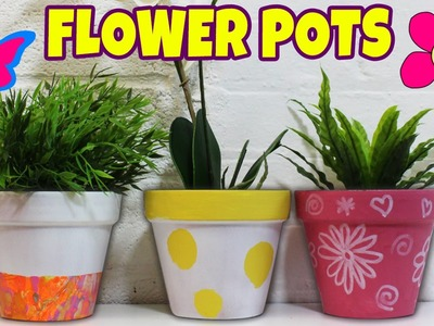Spring Painted Flower Pots | DIY Summer Room Decor Ideas by Hooplakidz How To