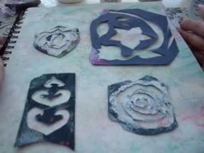 Stencil Art Tutorial DIY - Mixed Media Art Dyan Reaveley Journal