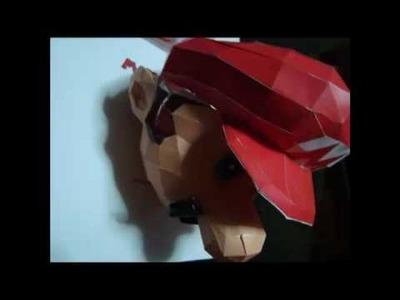 Super Mario 64 Papercraft Head