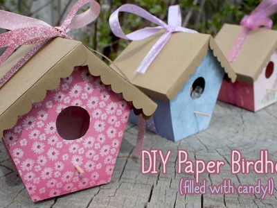 Tutorial: Paper Birdhouses | Mother's Day Crafts