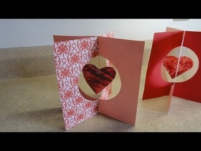"""Valentine's day kid's craft:  """"Stained Glass"""" Crayon Hearts & 3-D stand up card"""