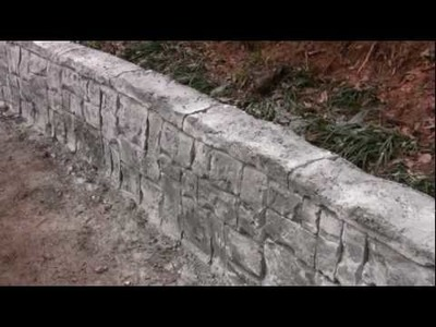 Vertical Concrete Stamping & Carving DVD ---  4 Hour PROJECT SET
