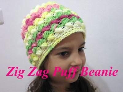 Zig Zag Beanie - Left Handed Crochet Tutorial