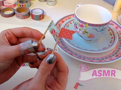 ASMR - Washi Tape Collection ♥ Craft Making (Sticky paper, cutting, tapping) - Whisper