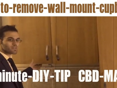 AWESOME DIY PROJECTS - HOW TO DISCONNECT & REMOVE KITCHEN WALL MOUT CUPBOARD COWBOYDIY.COM