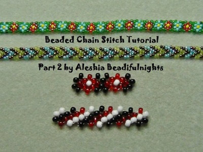 Beaded Chain Stitch Tutorial Part 2